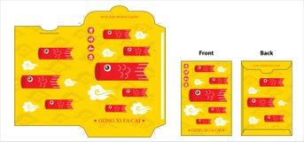 Diseño bolsillo chino del Año Nuevo ilustración del vector