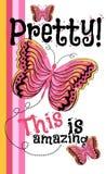Diseño bonito de las mariposas Vector gráfico Fotos de archivo libres de regalías
