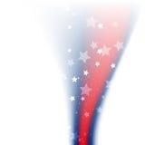 Diseño brillante de la bandera americana Imagenes de archivo