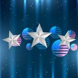 Diseño brillante de la bandera americana Fotos de archivo libres de regalías
