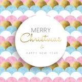 Diseño brillante de la Navidad y del oro del Año Nuevo Imagen de archivo libre de regalías