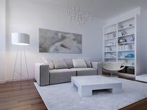 Diseño brillante de la sala de estar imagen de archivo libre de regalías