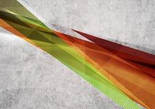 Diseño brillante de las formas de la geometría Grunge del vector Fotografía de archivo