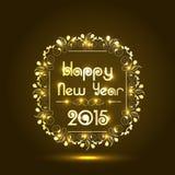 Diseño brillante del texto para la celebración 2015 de la Feliz Año Nuevo Fotografía de archivo