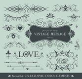 Diseño caligráfico Fotografía de archivo libre de regalías
