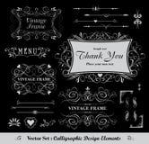 Diseño caligráfico Fotos de archivo libres de regalías