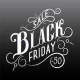 Diseño caligráfico de la venta de Black Friday Imágenes de archivo libres de regalías