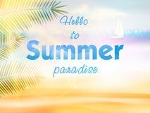 Diseño caligráfico del verano Imagen de archivo libre de regalías