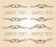 Diseño caligráfico determinado del marco del vintage Ilustración del vector Beige de Brown Fotografía de archivo libre de regalías