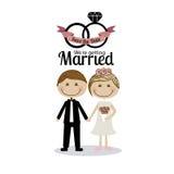 Diseño casado Fotografía de archivo