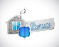 Diseño casero del ejemplo del concepto del seguro stock de ilustración