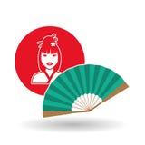 Diseño chino de la cultura sobre el fondo blanco, ejemplo del vector Foto de archivo