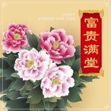 Diseño chino del Año Nuevo Imagen de archivo