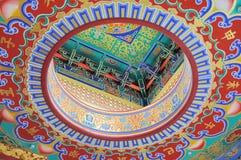 Diseño chino del templo Imágenes de archivo libres de regalías