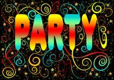 Diseño chispeante de la invitación del partido Foto de archivo
