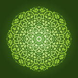 Diseño circular floral abstracto del modelo Foto de archivo libre de regalías