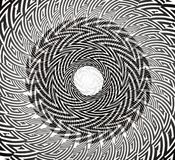 Diseño circular torcido imagenes de archivo