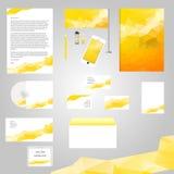 Diseño clásico blanco de la plantilla de la identidad corporativa Fotografía de archivo libre de regalías