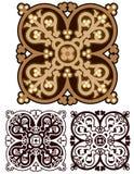 Diseño clásico de la mandala en tonos de la tierra, con variaciones Imagen de archivo