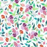 Diseño clásico dibujado mano retra de las flores hermosas del estilo con vector inconsútil del modelo del fondo brillante Imágenes de archivo libres de regalías