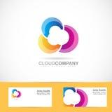 Diseño coloreado de la nube ilustración del vector