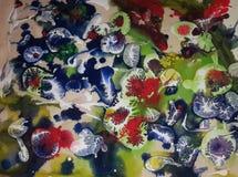 Diseño colorido abstracto de acrílico foto de archivo