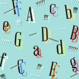 Diseño colorido abstracto del fondo de la letra Imagen de archivo