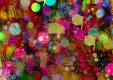 Diseño colorido abstracto del fondo Fondo del modelo Diseño y cartes cadeaux de la tarjeta de felicitación Foto de archivo libre de regalías