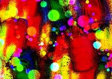 Diseño colorido abstracto del fondo Fondo del modelo Diseño y cartes cadeaux de la tarjeta de felicitación Fotografía de archivo