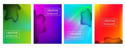 Diseño colorido de la cubierta de la pendiente con las líneas abstractas y el modelo geométrico libre illustration