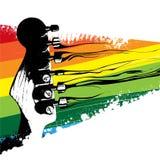 Diseño colorido de la guitarra Imágenes de archivo libres de regalías