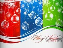Diseño colorido de la Navidad ilustración del vector