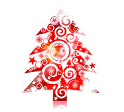 Diseño colorido de la Navidad Imagen de archivo