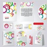 Diseño colorido de la plantilla de la identidad corporativa del círculo Fotos de archivo
