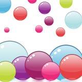Diseño colorido de las burbujas Ilustración del Vector