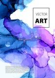 Diseño colorido de las cubiertas del vector fijado con texturas Primer de la pintura Fondo pintado a mano brillante abstracto stock de ilustración