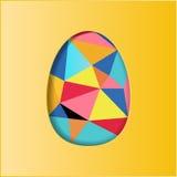 Diseño colorido de los huevos de Pascua Fotografía de archivo