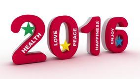 diseño colorido del Año Nuevo 2016 Imágenes de archivo libres de regalías