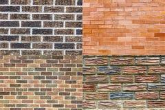 Diseño colorido del collage del fondo de los modelos de los ladrillos Fotografía de archivo