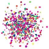 Diseño colorido del confeti con el fondo transparente Imagen de archivo libre de regalías