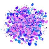 Diseño colorido del confeti con el fondo transparente fotos de archivo libres de regalías