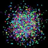 Diseño colorido del confeti con el fondo transparente imágenes de archivo libres de regalías