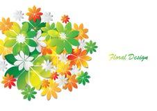 Diseño colorido del extracto de las hojas Imagenes de archivo