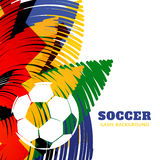 Diseño colorido del fútbol ilustración del vector