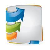 Diseño colorido del folleto Fotografía de archivo libre de regalías