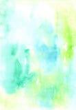 Diseño colorido del fondo de la obra de la pintura mojada azul y verde del Watercolour Imagen o contexto agradable Ejemplo vivo ilustración del vector