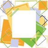 Diseño colorido del marco Stock de ilustración