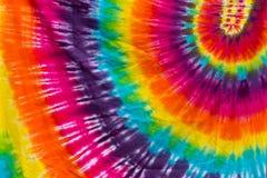 Diseño colorido del modelo del espiral del teñido anudado Foto de archivo