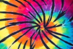 Diseño colorido del modelo del espiral del teñido anudado fotografía de archivo libre de regalías