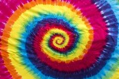Diseño colorido del modelo del espiral del teñido anudado Fotografía de archivo